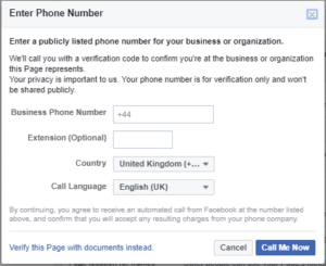 How and why you should verify your business Facebook page